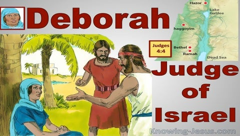 Judges  4-4 Deborah Was Judging Israel (red)